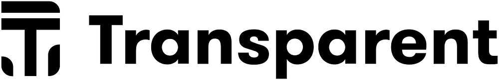 The text Transparent is writtne in the black.