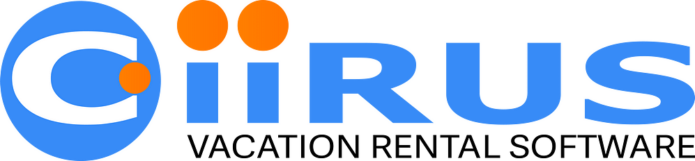 CiiRUS's logo has two orange circles at the top of the I's.